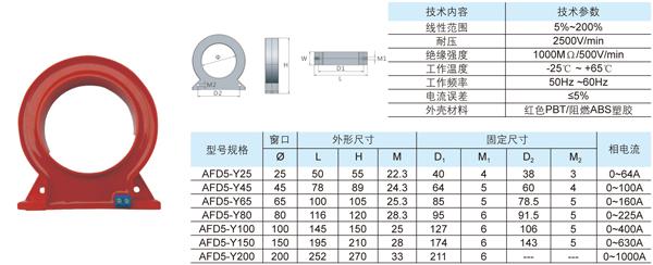 afd5电气火灾监控专用零序互感器